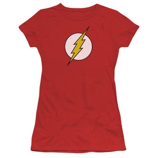 DC/Flash Logo Junior Sheer in Red