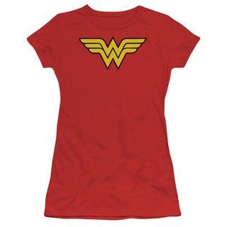 DC/Wonder Woman Logo Junior Sheer in Red