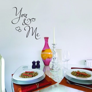 Style and Apply You & Me Vinyl Wall Decal and Sticker Mural Art