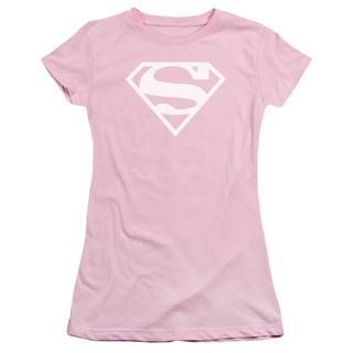 DC/White & Pink Shield Junior Sheer in Pink