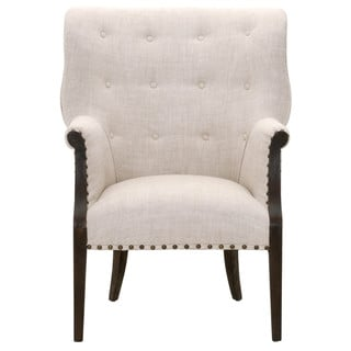 Randall Cream Linen/Oak Club Chair
