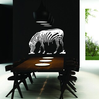 Style and Apply Zebra Vinyl Wall Decal and Sticker Mural Art Home Decor