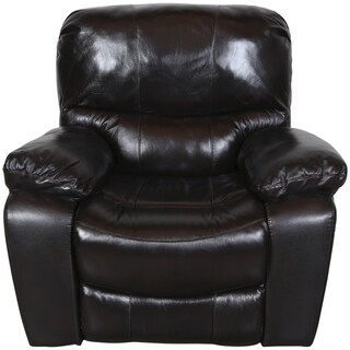 Porter Manchester Black Cherry Top Grain Leather Gliding Recliner