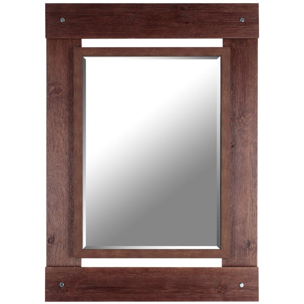 Hobbitholeco 30x43 brown wash beveled mirror inner for Mirror 20 x 30