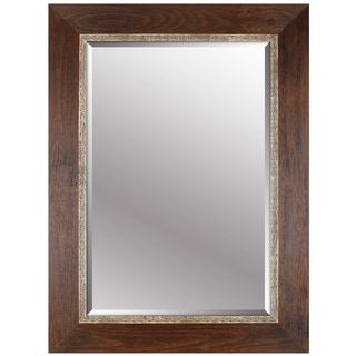 Hobbitholeco. 34x46 Brown Emboss Beveled Mirror (Inner mirror 24X36)