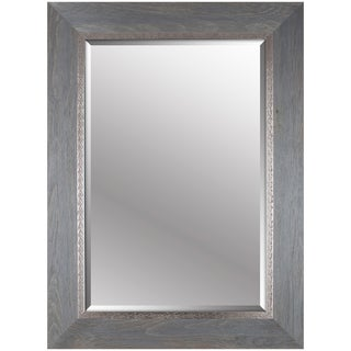 Hobbitholeco. 34x46 Grey Emboss Beveled Mirror (Inner mirror 24X36)