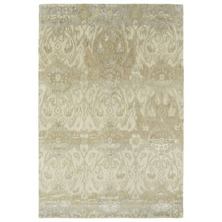 Hand-Tufted Wool & Viscose Anastasia Beige Ikat Rug (8'0 x 11'0)