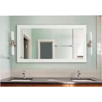 American Made Extra Large Delta White Vanity Wall Mirror