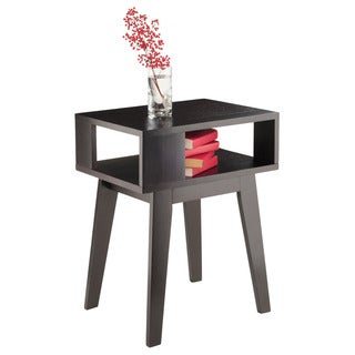 Winsome Thompson Espresso Wood Rectangular Open Design End Table