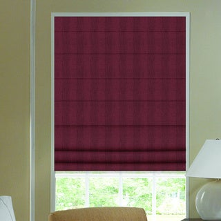 Ashton Wine Stripe Roman Shade 46 to 46.5-inch Wide