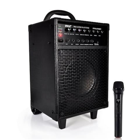 Pyle PWMA930IBT 600-watt 30-pin Rechargeable Battery Wireless Portable Bluetooth PA Speaker System
