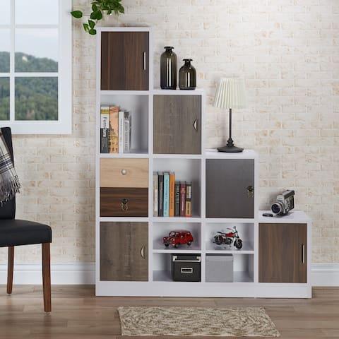 Furniture of America Arla Modern White 6-shelf Staircase Bookcase