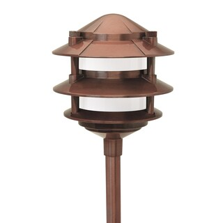 Paradise GL22764CI 12 Volt 3 Tier Copper Laurentide Walklight