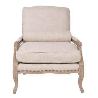 Gray Manor Caroline Cream Linen Club Chair