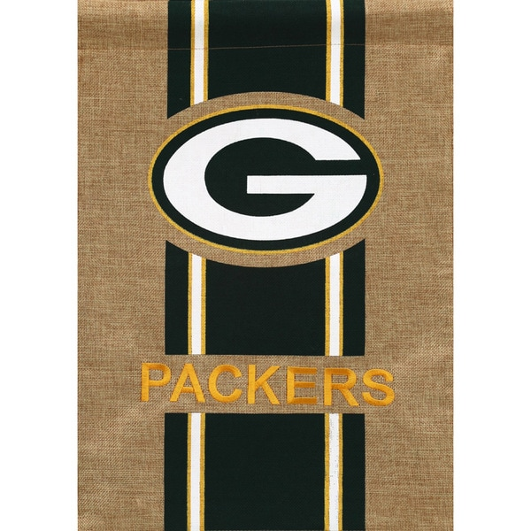 Green Bay Packers Multi-color Polyburlap 18-inch x 12.5-inch Team Flag