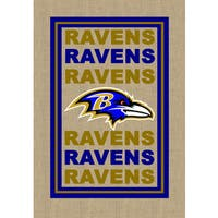 Burlap Baltimore Ravens Flag