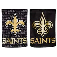 New Orleans Saints Suede Glitter Flag