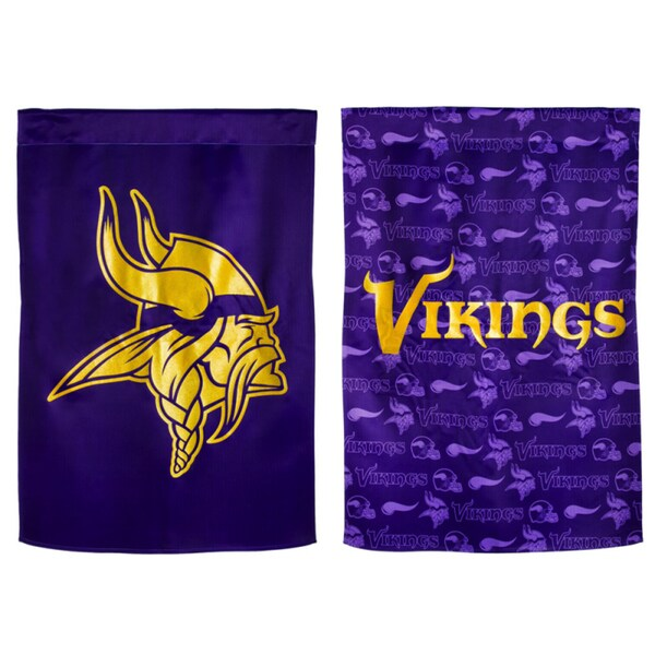 Minnesota Viking Suede Glitter Double-sided Flag
