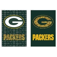 Green Bay Packers Suede Glitter Double-sided Flag