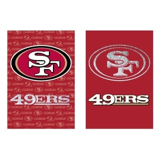 Suede and Glitter Double-sided San Francisco 49ers Flag