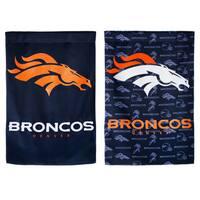 Denver Broncos Suede Glitter Flag