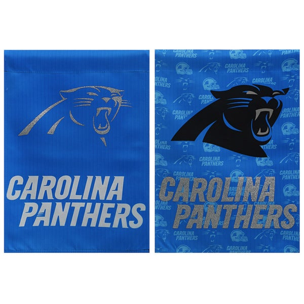 Carolina Panthers Suede Glitter Flag
