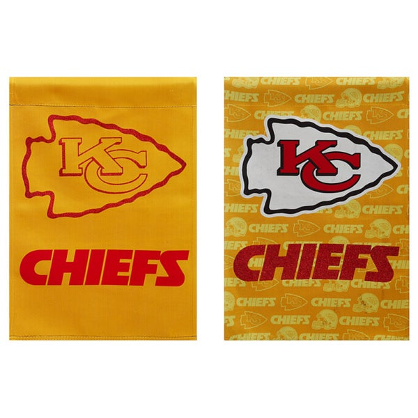 Kansas City Chiefs Suede Glitter Flag