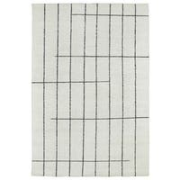 """Handmade Collins Ivory & Charcoal Nomad Rug - 9'6"""" x 13'"""