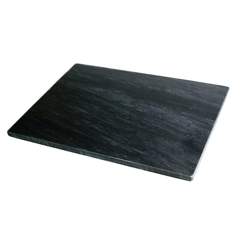 Fox Run Brands Marble Pastry Board, Black - 12 x 16 x .5