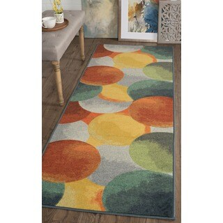 Alise Expo Contemporary Multi-colored Nylon Rug (2'7 x 7'3)