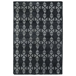 "Handmade Collins Charcoal & Grey Nomad Rug (9'6"" x 13'0)"