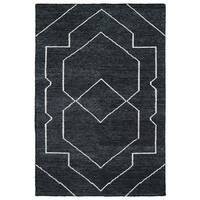 """Handmade Collins Charcoal & Ivory Nomad Rug - 9'6"""" x 13'"""