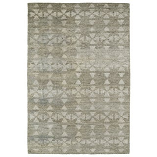"Handmade Collins Oatmeal & Light Taupe Nomad Rug (9'6"" x 13'0)"