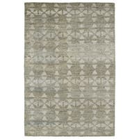 "Handmade Collins Oatmeal & Light Taupe Nomad Rug - 9'6"" x 13'"