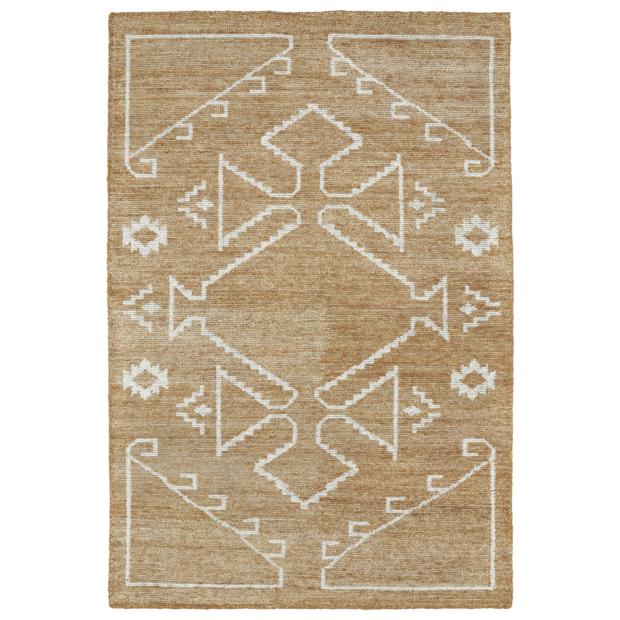 Handmade Collins Copper & Ivory Nomad Rug - 96 x 13 (96 x 130)