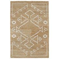 "Handmade Collins Copper & Ivory Nomad Rug - 9'6"" x 13'"