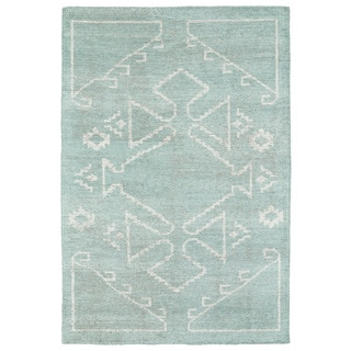 "Handmade Collins Mint & Ivory Nomad Rug (9'6"" x 13'0)"