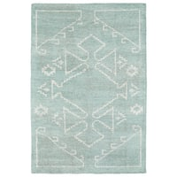 "Handmade Collins Mint & Ivory Nomad Rug - 9'6"" x 13'"