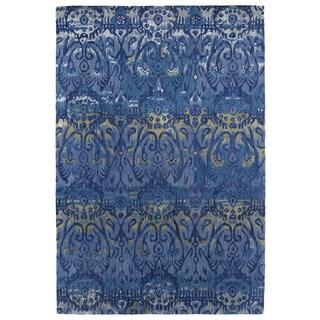 "Hand-Tufted Wool & Viscose Anastasia Blue Ikat Rug (9'6"" x 13'0)"