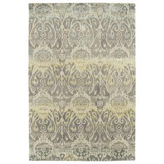 "Hand-Tufted Wool & Viscose Anastasia Beige Ikat Rug (9'6"" x 13'0)"