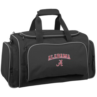 WallyBags Alabama Crimson Tide Black 21-inch Collegiate Duffel Bag