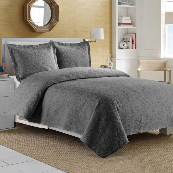 Medallion Egyptian Cotton 3-piece Quilt Set