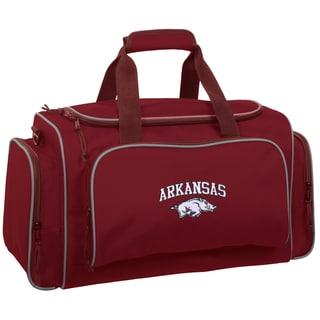 WallyBags Arkansas Razorbacks Red Polyester 21-inch Collegiate Duffel Bag