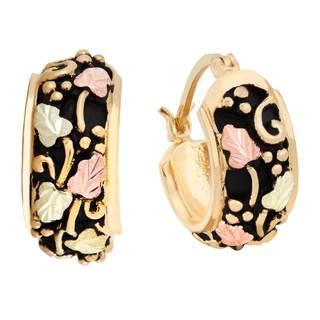Black Hills Gold Hoop Earrings
