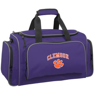 WallyBags Clemson Tigers Purple Polyester 21-inch Collegiate Duffel Bag