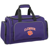 WallyBags Clemson Tigers Purple Polyester 21-inch Collegiate Duffel Bag