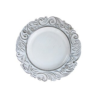 Aristocratic White Antique 14-inch Charger Plate