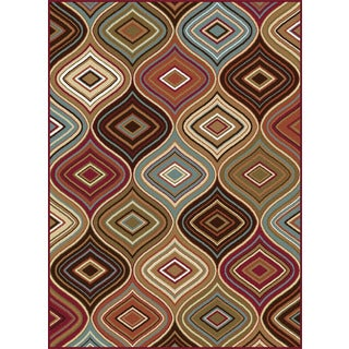 Alise Essentials Multicolor Contemporary Style Area Rug (5' x 7')