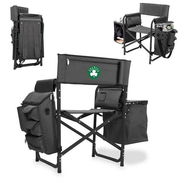 Picnic Time Fusion Black Polyester Boston Celtics Chair