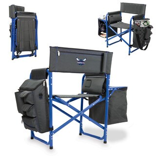 Picnic Time Grey and Blue Charlotte Hornets Fusion Chair
